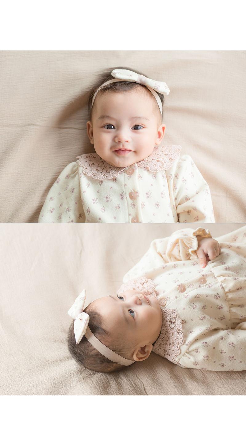 HAPPY PRINCE - Korean Children Fashion - #Kfashion4kids - Vane Body Suit + Hairband - 6
