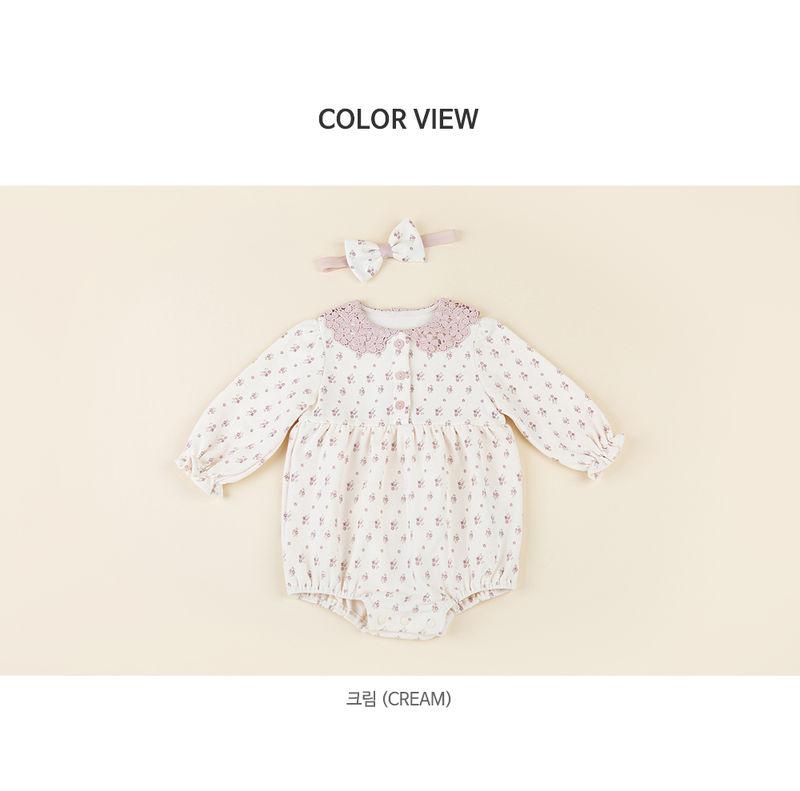HAPPY PRINCE - Korean Children Fashion - #Kfashion4kids - Vane Body Suit + Hairband - 8