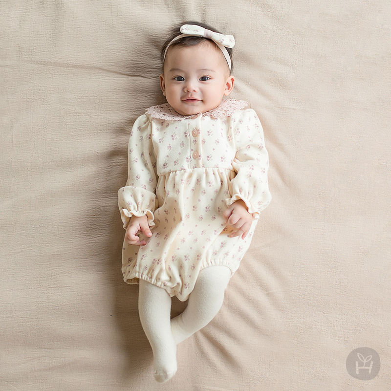 HAPPY PRINCE - BRAND - Korean Children Fashion - #Kfashion4kids - Vane Body Suit + Hairband