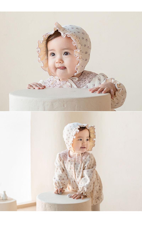 HAPPY PRINCE - Korean Children Fashion - #Kfashion4kids - Vane Frill Baby Bonnet - 2