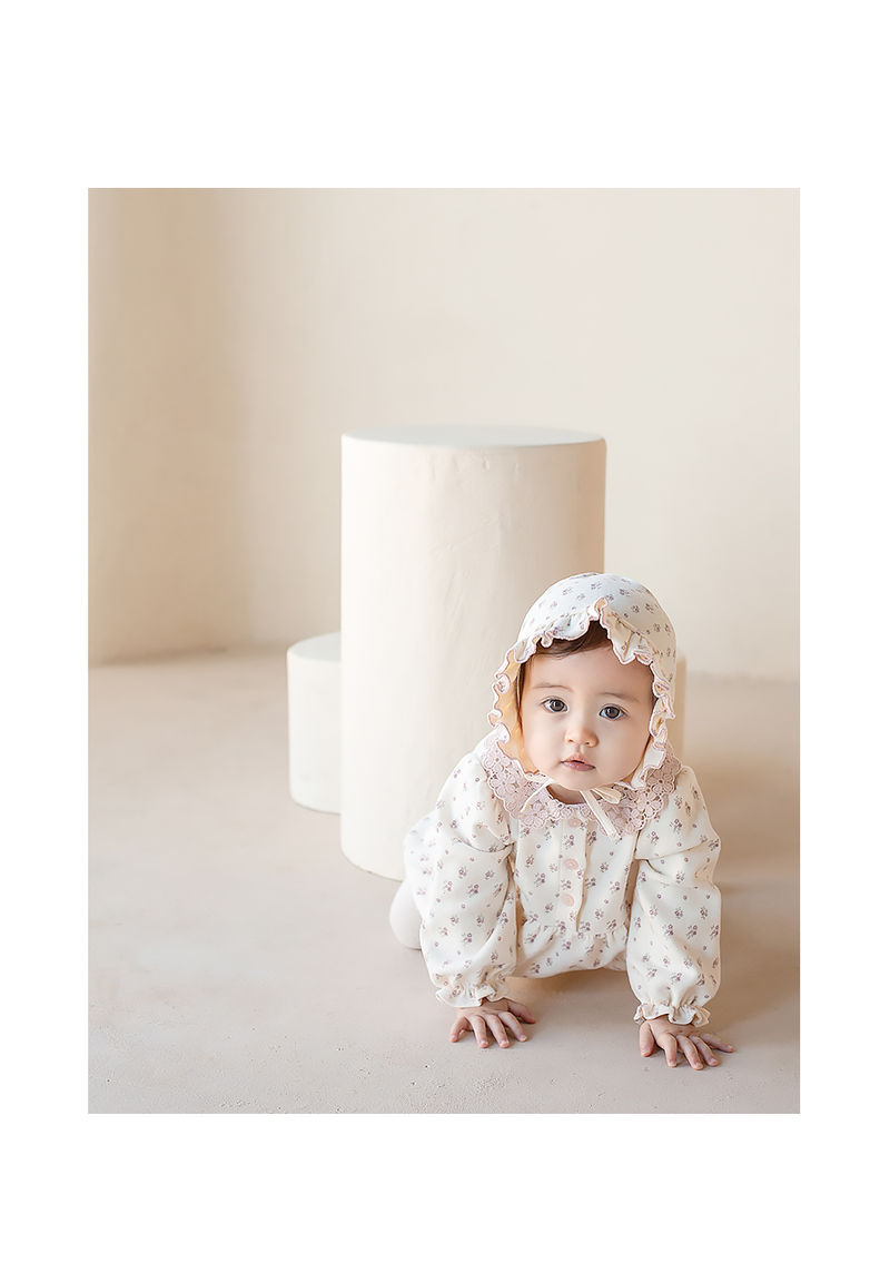HAPPY PRINCE - Korean Children Fashion - #Kfashion4kids - Vane Frill Baby Bonnet - 3