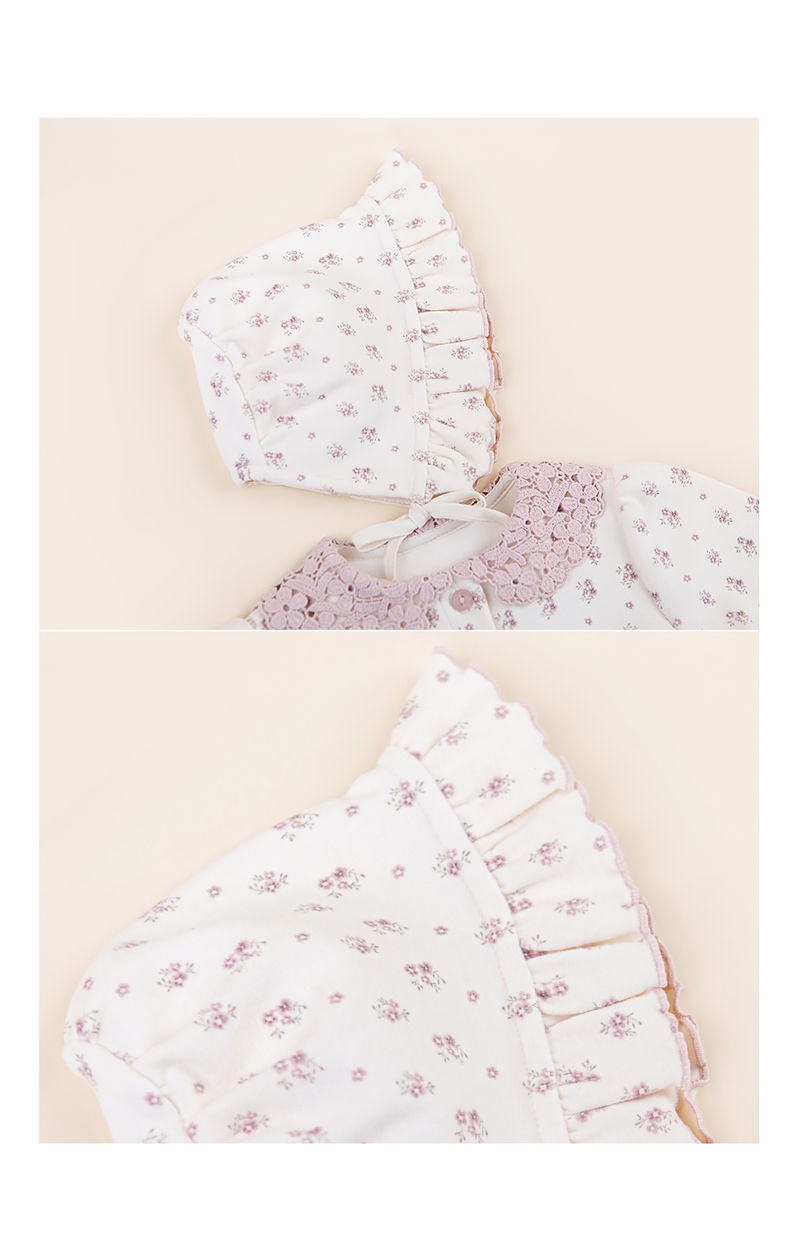 HAPPY PRINCE - Korean Children Fashion - #Kfashion4kids - Vane Frill Baby Bonnet - 5