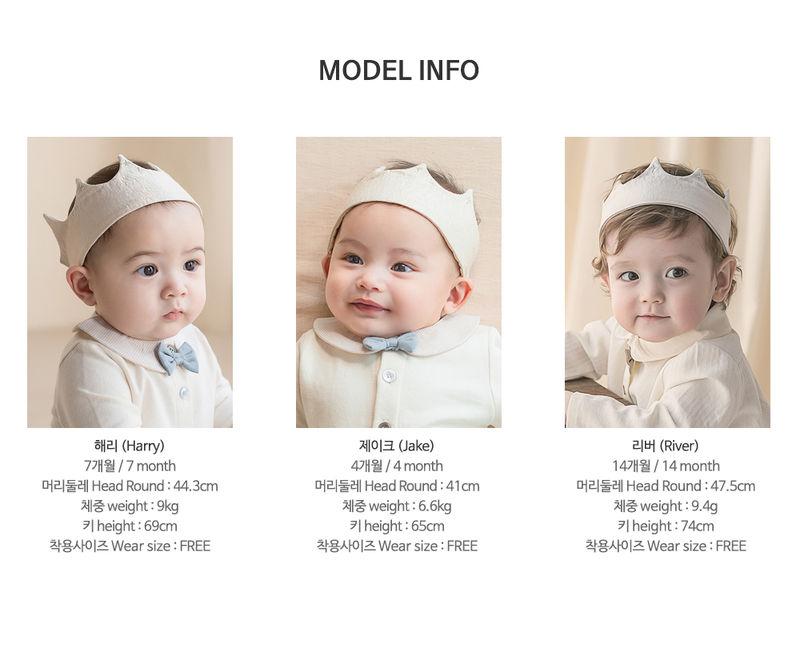 HAPPY PRINCE - Korean Children Fashion - #Kfashion4kids - Flat Crown Baby Hairband [set of 5] - 10