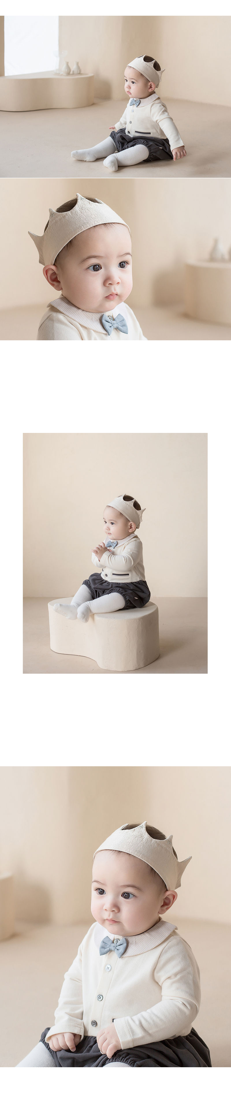 HAPPY PRINCE - Korean Children Fashion - #Kfashion4kids - Flat Crown Baby Hairband [set of 5] - 2