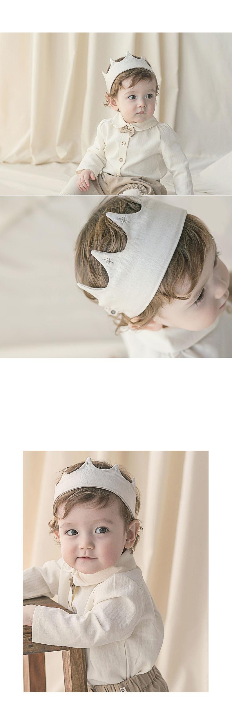 HAPPY PRINCE - Korean Children Fashion - #Kfashion4kids - Flat Crown Baby Hairband [set of 5] - 6