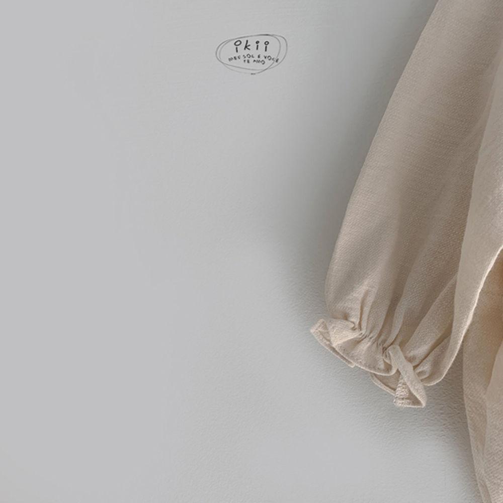 IKII - Korean Children Fashion - #Kfashion4kids - Bebe Coco Collar Bodysuit with Bonnet - 10
