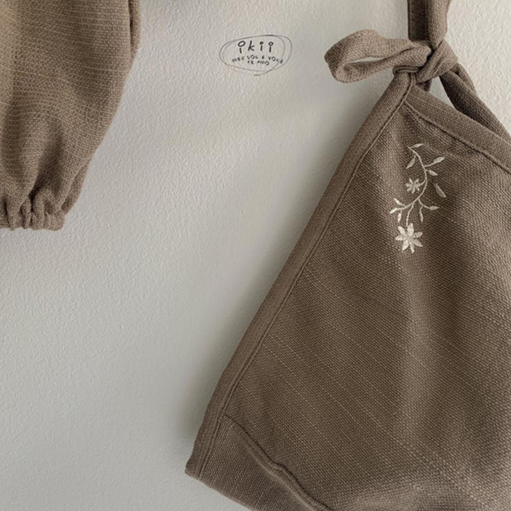 IKII - Korean Children Fashion - #Kfashion4kids - Bebe Coco Collar Bodysuit with Bonnet - 12