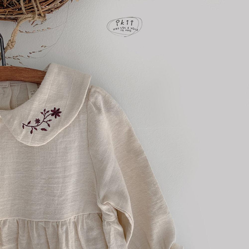IKII - Korean Children Fashion - #Kfashion4kids - Bebe Coco Collar Bodysuit with Bonnet - 3