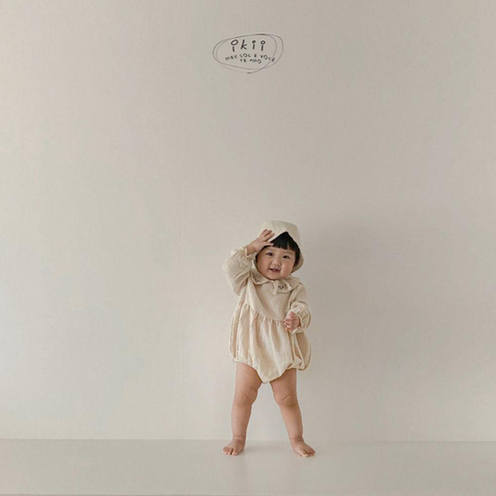 IKII - Korean Children Fashion - #Kfashion4kids - Bebe Coco Collar Bodysuit with Bonnet - 6