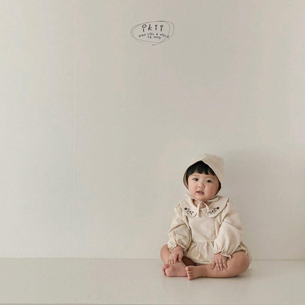 IKII - Korean Children Fashion - #Kfashion4kids - Bebe Coco Collar Bodysuit with Bonnet - 7