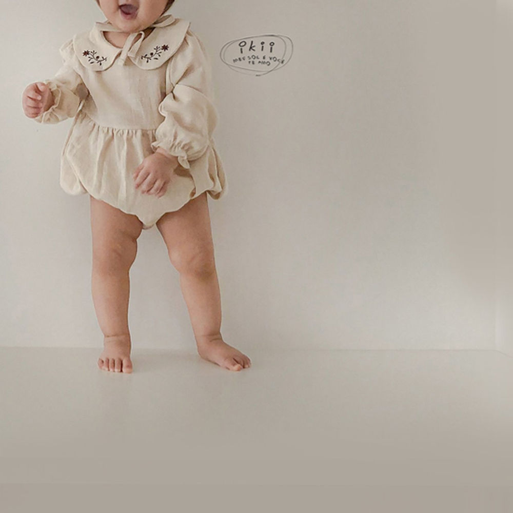 IKII - Korean Children Fashion - #Kfashion4kids - Bebe Coco Collar Bodysuit with Bonnet - 8