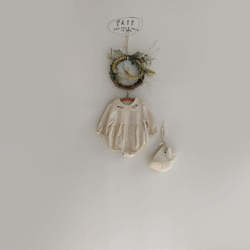 IKII - Korean Children Fashion - #Kfashion4kids - Bebe Coco Collar Bodysuit with Bonnet - 9