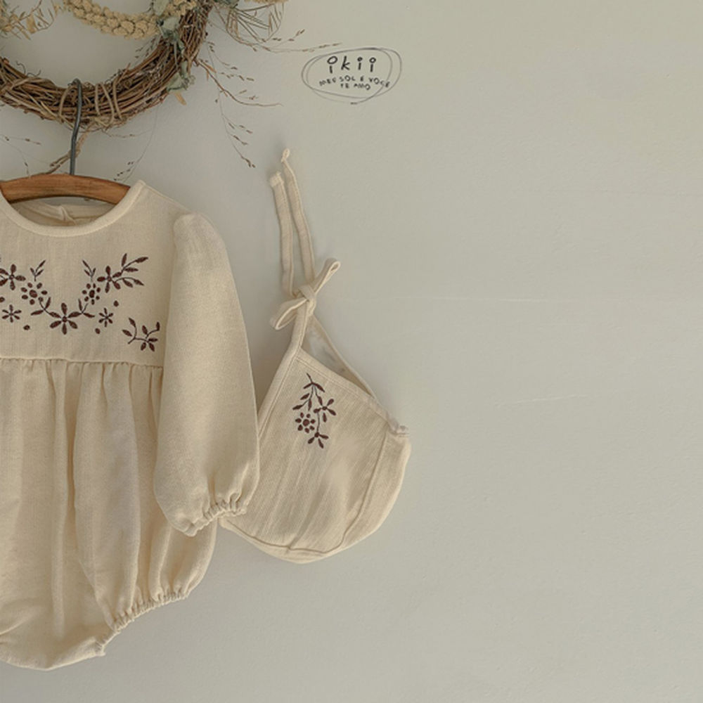 IKII - Korean Children Fashion - #Kfashion4kids - Bebe Anjou Romper with Bonnet