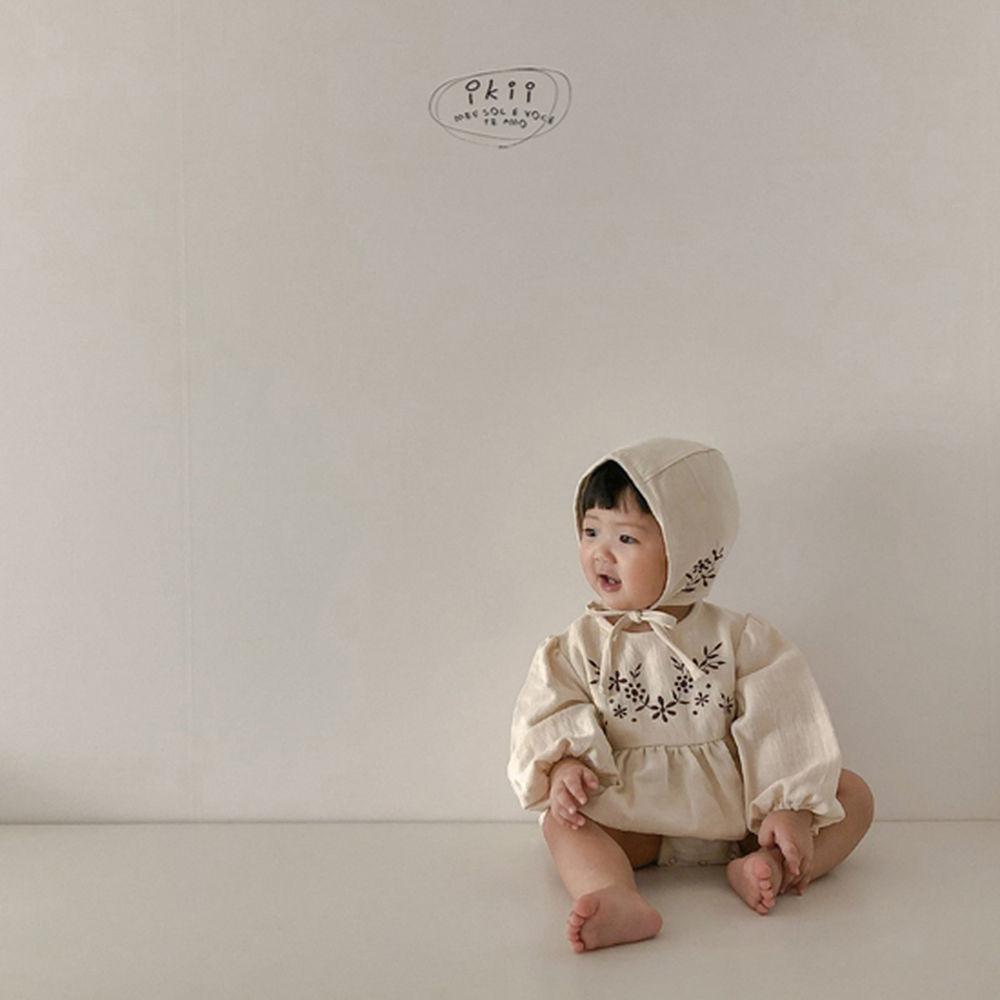 IKII - Korean Children Fashion - #Kfashion4kids - Bebe Anjou Romper with Bonnet - 11