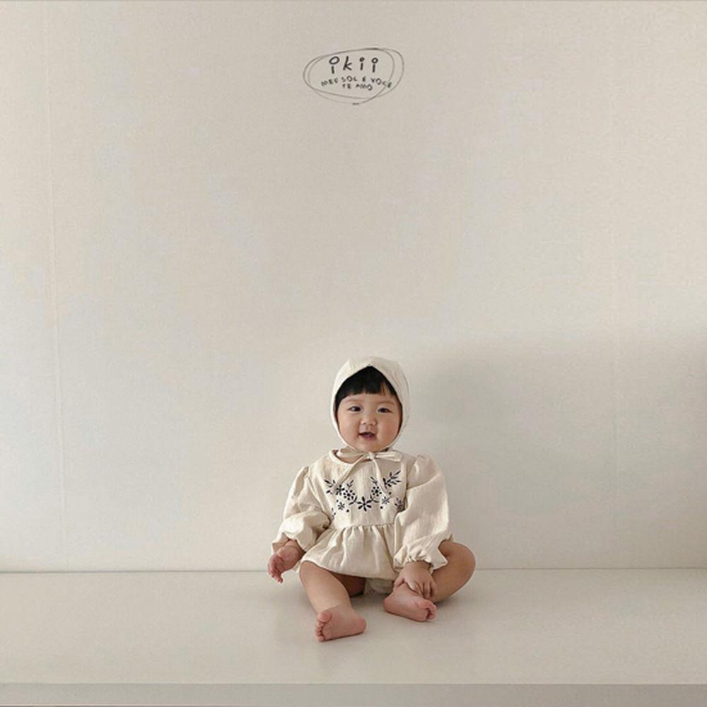 IKII - Korean Children Fashion - #Kfashion4kids - Bebe Anjou Romper with Bonnet - 12