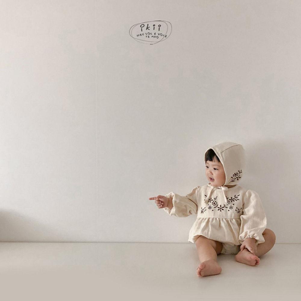 IKII - Korean Children Fashion - #Kfashion4kids - Bebe Anjou Romper with Bonnet - 2
