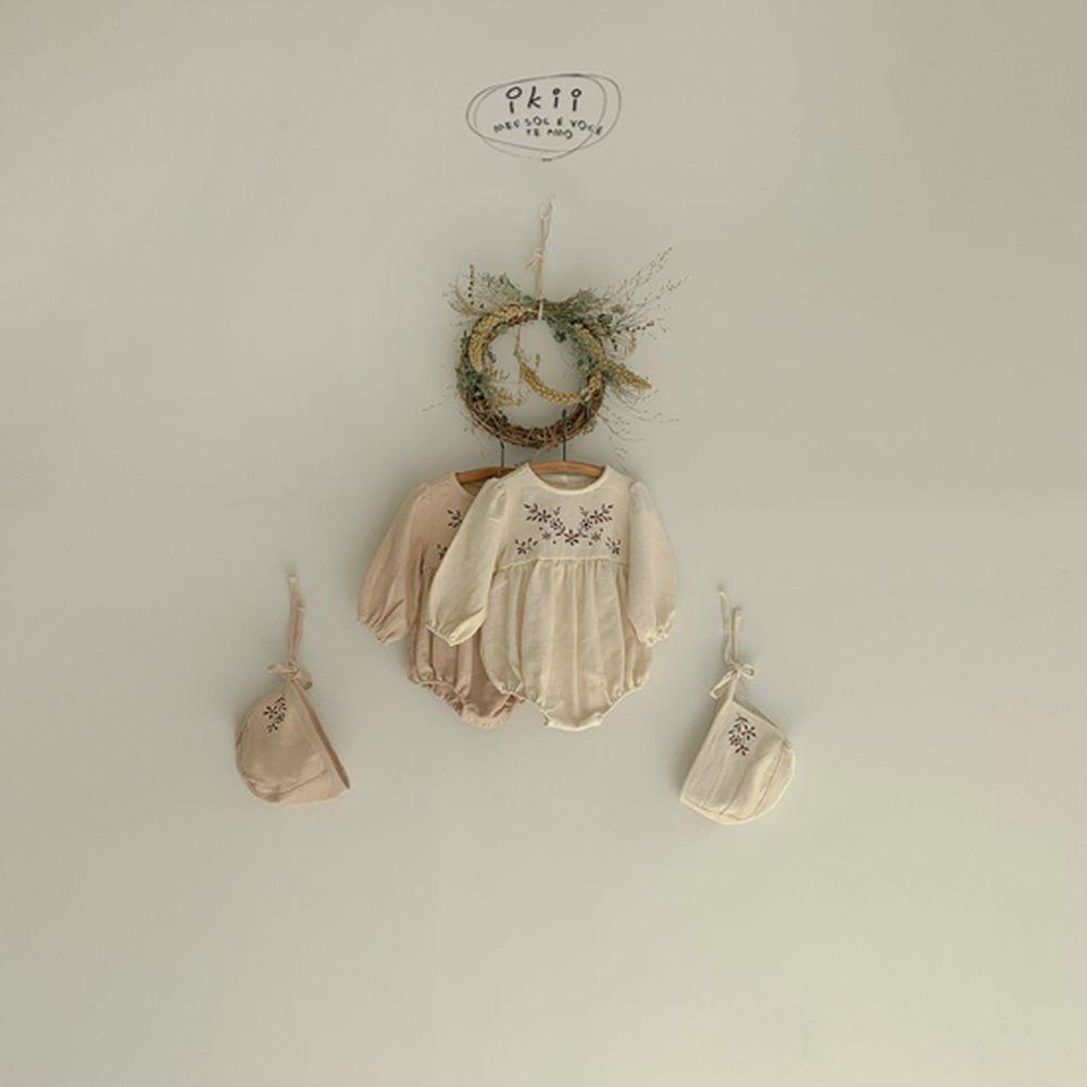 IKII - Korean Children Fashion - #Kfashion4kids - Bebe Anjou Romper with Bonnet - 3