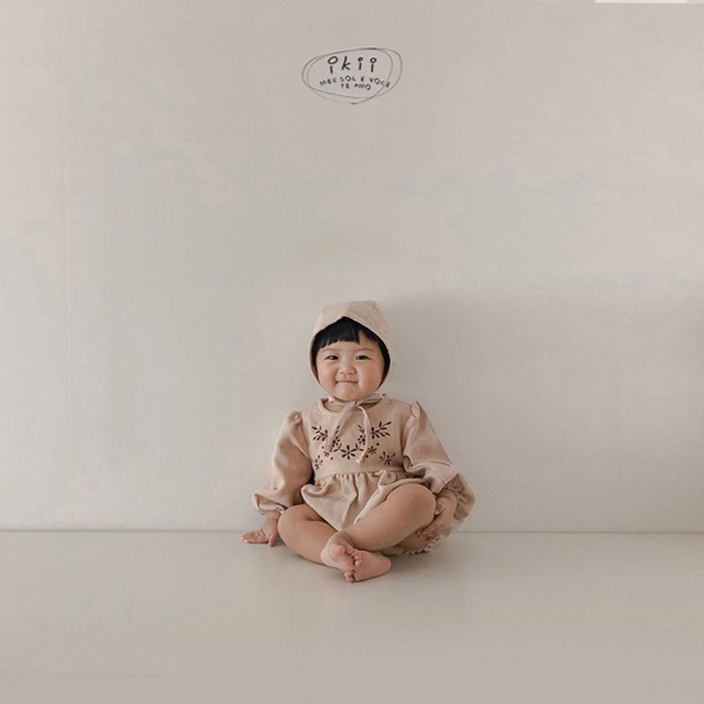 IKII - Korean Children Fashion - #Kfashion4kids - Bebe Anjou Romper with Bonnet - 6