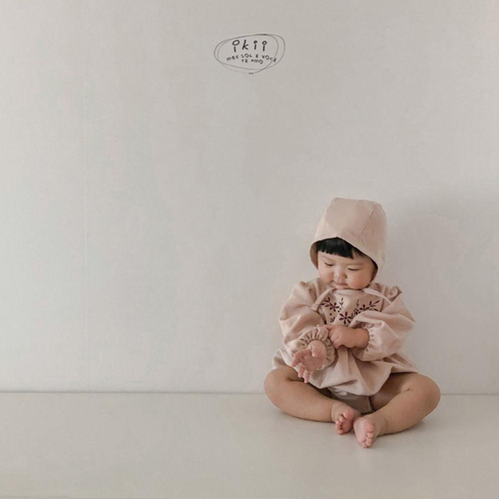 IKII - Korean Children Fashion - #Kfashion4kids - Bebe Anjou Romper with Bonnet - 8