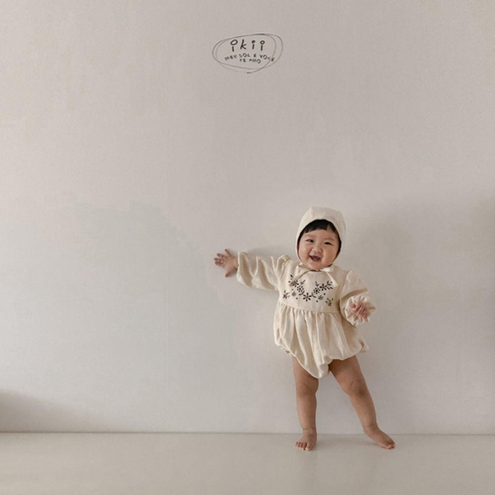 IKII - Korean Children Fashion - #Kfashion4kids - Bebe Anjou Romper with Bonnet - 9