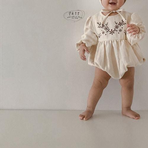 IKII - BRAND - Korean Children Fashion - #Kfashion4kids - Bebe Anjou Romper with Bonnet