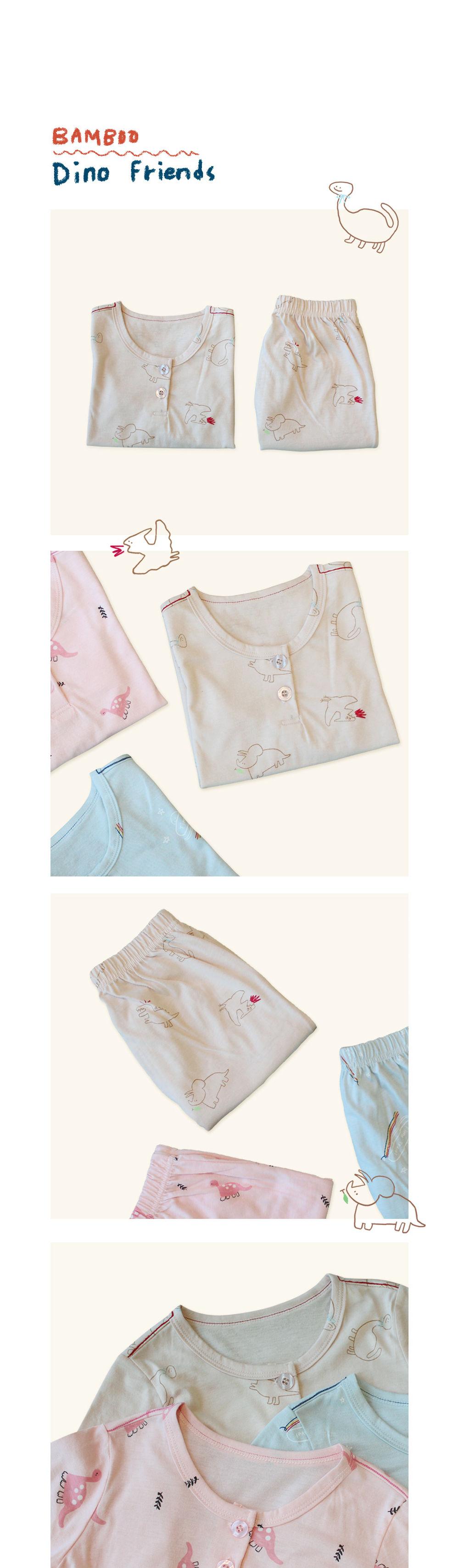 KOKACHARM - Korean Children Fashion - #Kfashion4kids - Bamboo Dino Friends Easywear - 2