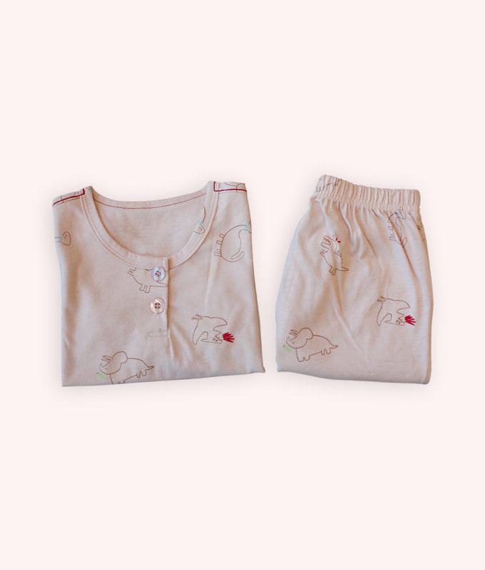 KOKACHARM - BRAND - Korean Children Fashion - #Kfashion4kids - Bamboo Dino Friends Easywear