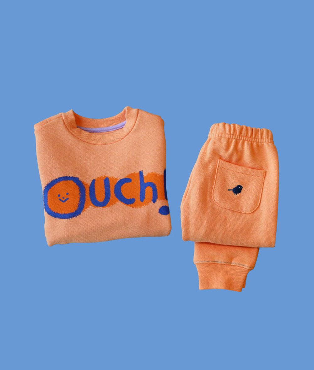 KOKACHARM - BRAND - Korean Children Fashion - #Kfashion4kids - Ouch! Sweat Shirt Pants Set