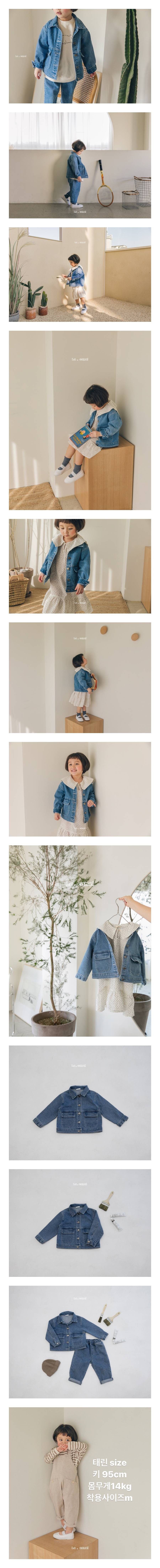 LA CAMEL - Korean Children Fashion - #Kfashion4kids - Cheese Denim Jacket