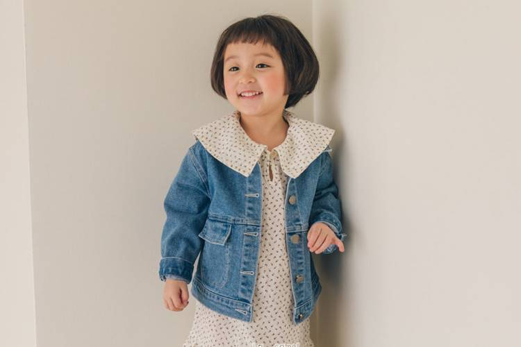 LA CAMEL - BRAND - Korean Children Fashion - #Kfashion4kids - Cheese Denim Jacket