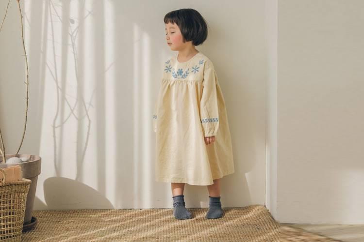 LA CAMEL - BRAND - Korean Children Fashion - #Kfashion4kids - Maison Embroidery One-piece
