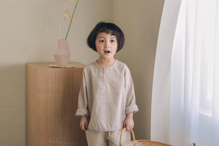 LA CAMEL - BRAND - Korean Children Fashion - #Kfashion4kids - Classic Henly Neck Tee