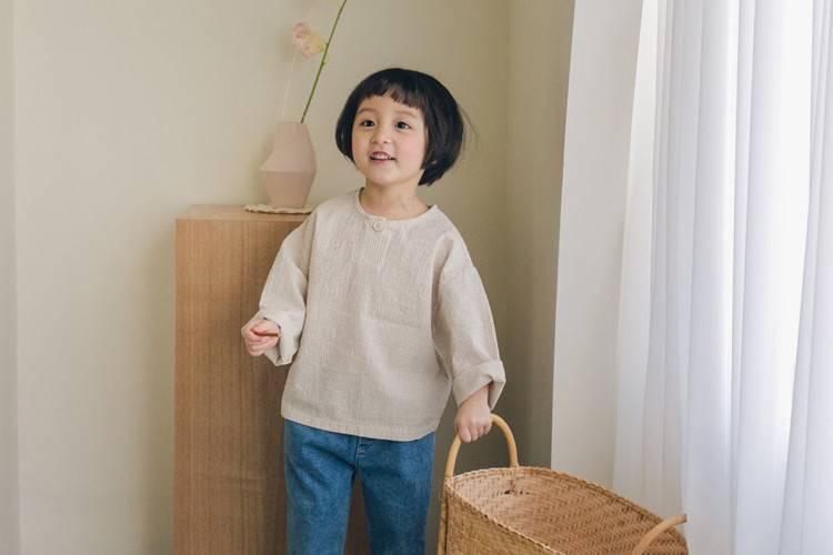 LA CAMEL - BRAND - Korean Children Fashion - #Kfashion4kids - Mono Henly Neck Tee