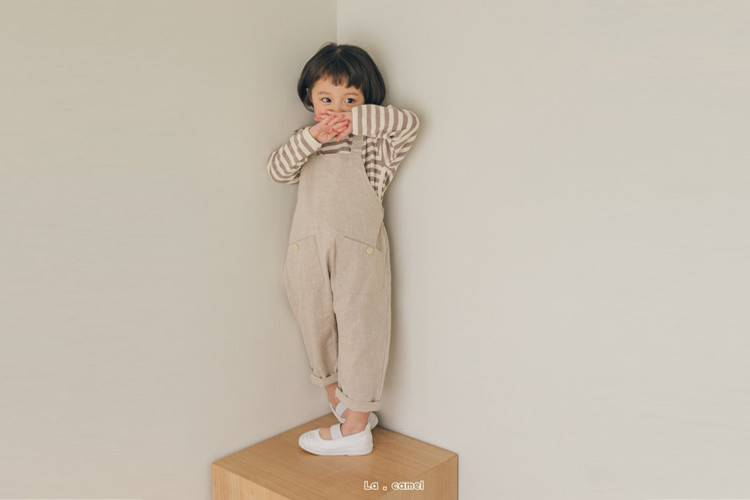 LA CAMEL - BRAND - Korean Children Fashion - #Kfashion4kids - Powder Suspender Pants