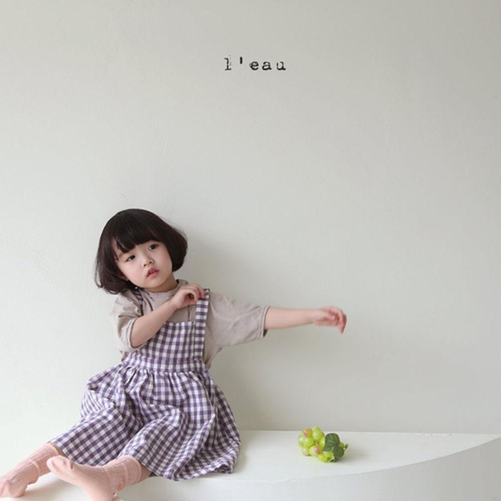 LEAU - Korean Children Fashion - #Kfashion4kids - Label Simgle Tee - 12