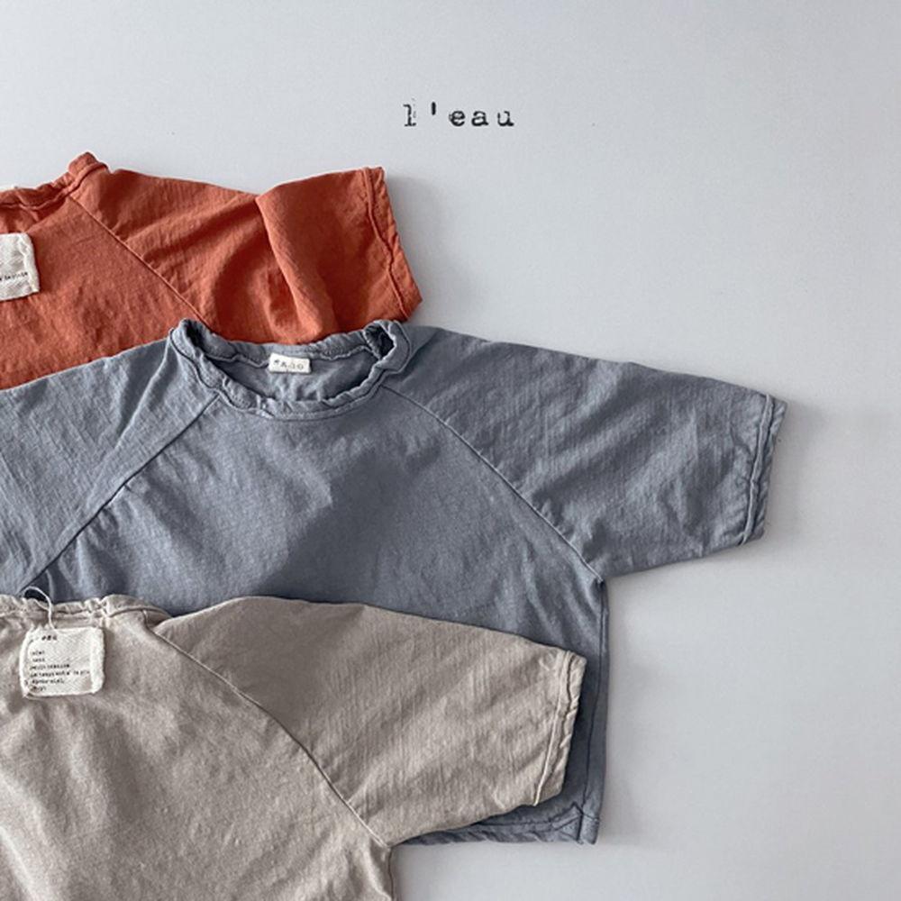 LEAU - Korean Children Fashion - #Kfashion4kids - Label Simgle Tee - 9