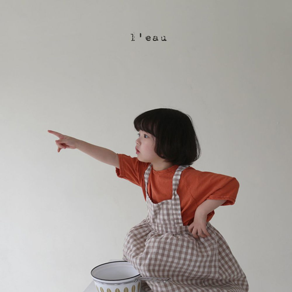 LEAU - Korean Children Fashion - #Kfashion4kids - Check String One-piece