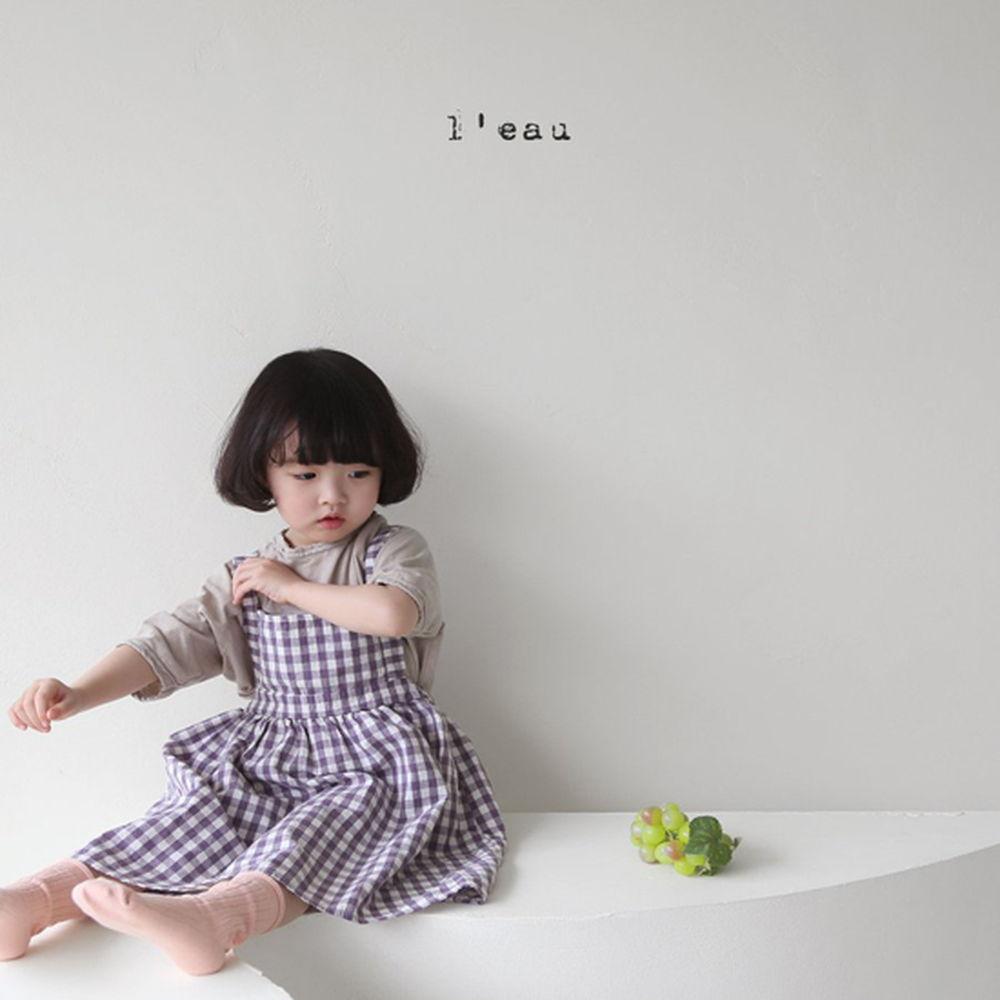 LEAU - Korean Children Fashion - #Kfashion4kids - Check String One-piece - 4