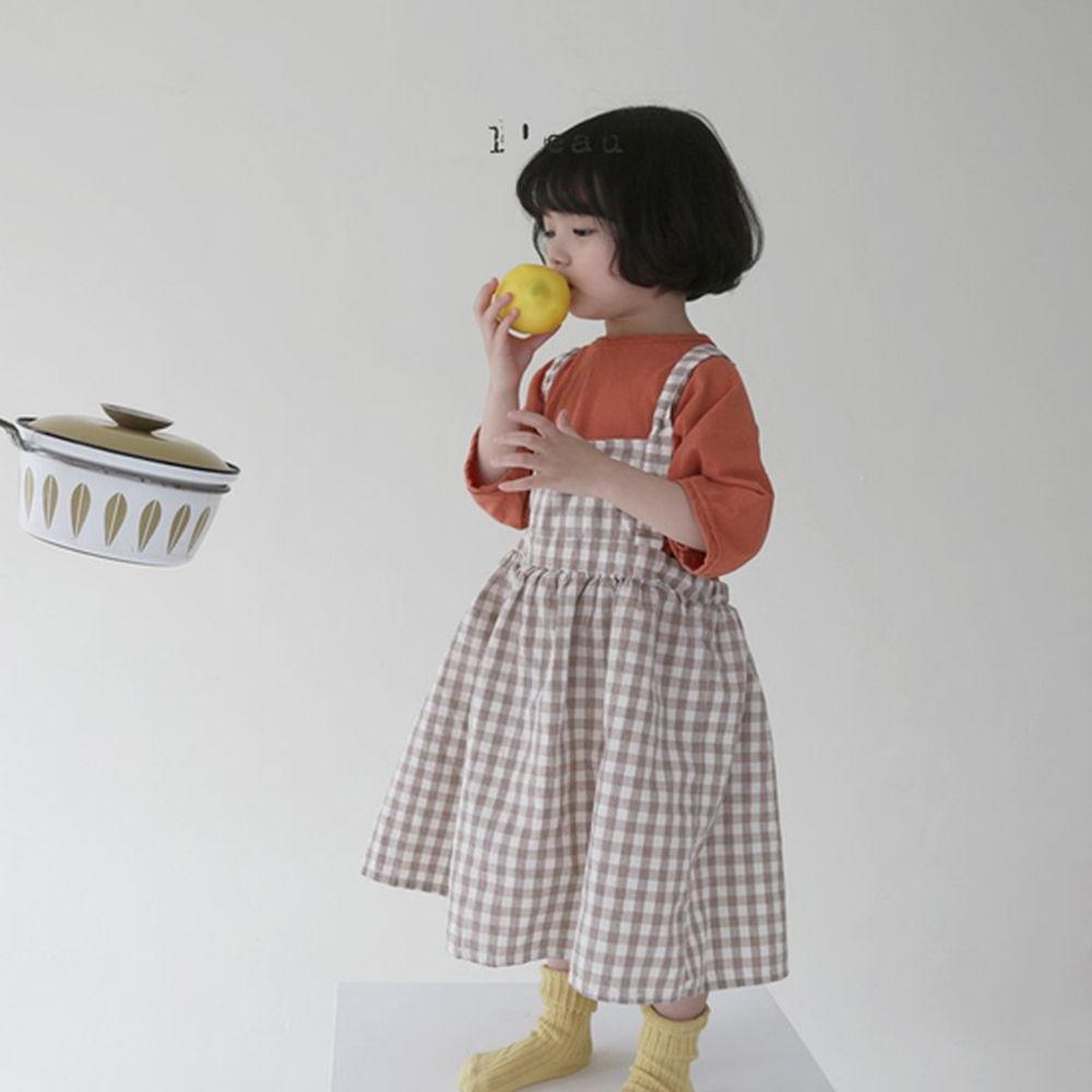LEAU - Korean Children Fashion - #Kfashion4kids - Check String One-piece - 5