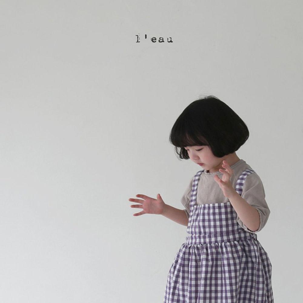 LEAU - Korean Children Fashion - #Kfashion4kids - Check String One-piece - 6