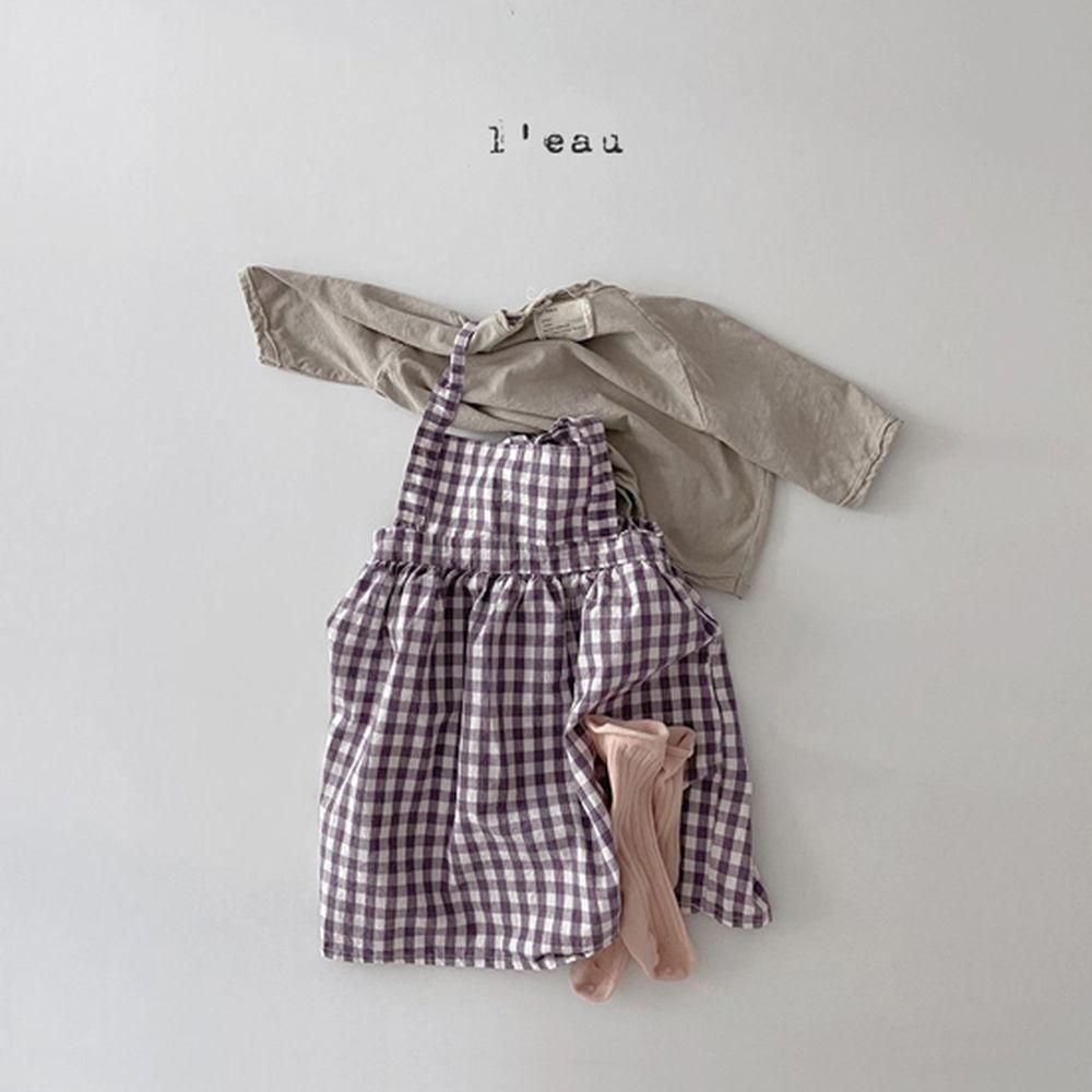 LEAU - Korean Children Fashion - #Kfashion4kids - Check String One-piece - 8