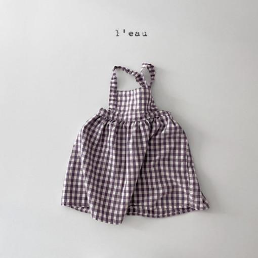 LEAU - BRAND - Korean Children Fashion - #Kfashion4kids - Check String One-piece