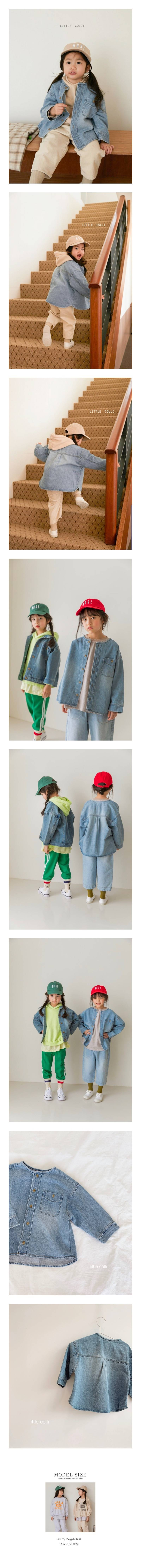 LITTLE COLLI - Korean Children Fashion - #Kfashion4kids - R Denim Shirts
