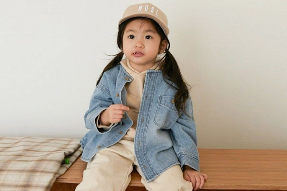 LITTLE COLLI - BRAND - Korean Children Fashion - #Kfashion4kids - R Denim Shirts