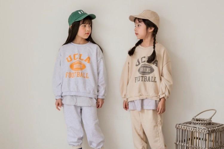 LITTLE COLLI - BRAND - Korean Children Fashion - #Kfashion4kids - Layered Top Bottom Set