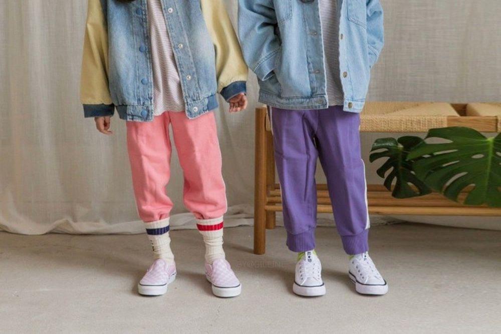 LITTLE COLLI - BRAND - Korean Children Fashion - #Kfashion4kids - Retro Pants
