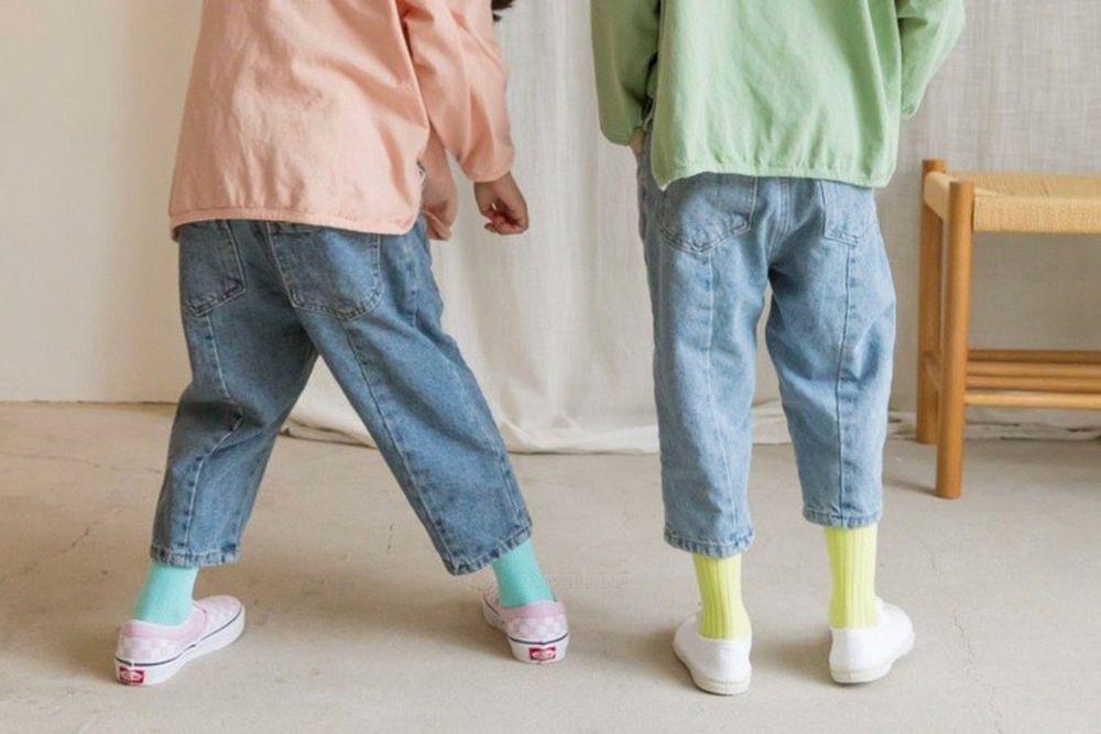 LITTLE COLLI - BRAND - Korean Children Fashion - #Kfashion4kids - Daily Denim Pants