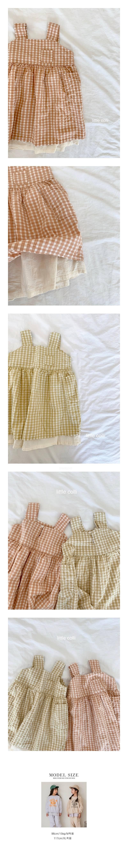 LITTLE COLLI - Korean Children Fashion - #Kfashion4kids - Pretty Check One-piece