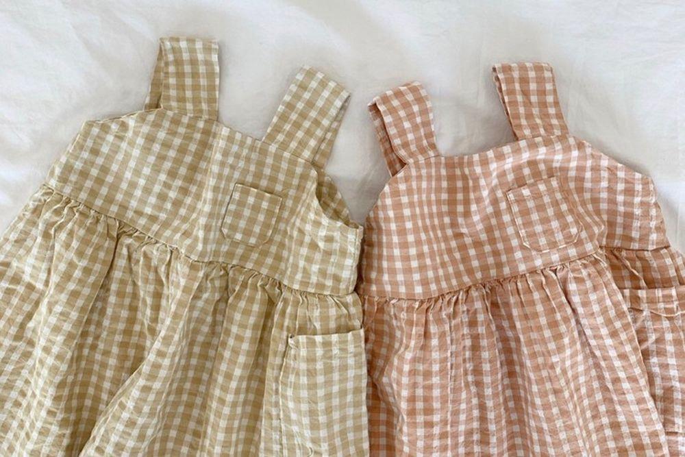 LITTLE COLLI - BRAND - Korean Children Fashion - #Kfashion4kids - Pretty Check One-piece