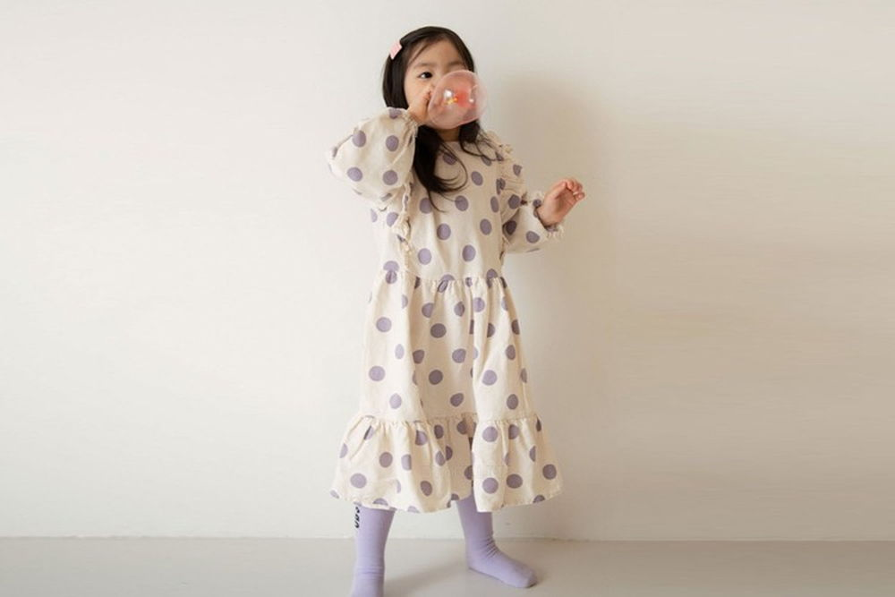LITTLE COLLI - BRAND - Korean Children Fashion - #Kfashion4kids - Big Dot One-piece